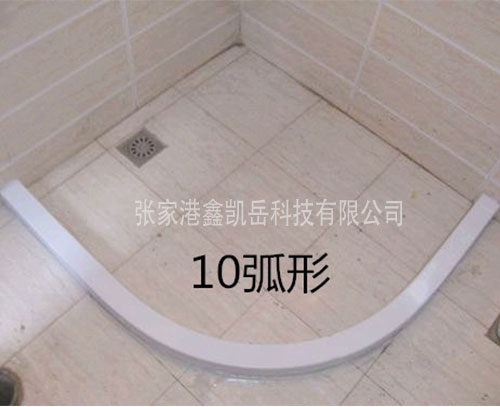 PVC石塑挡水条10弧形
